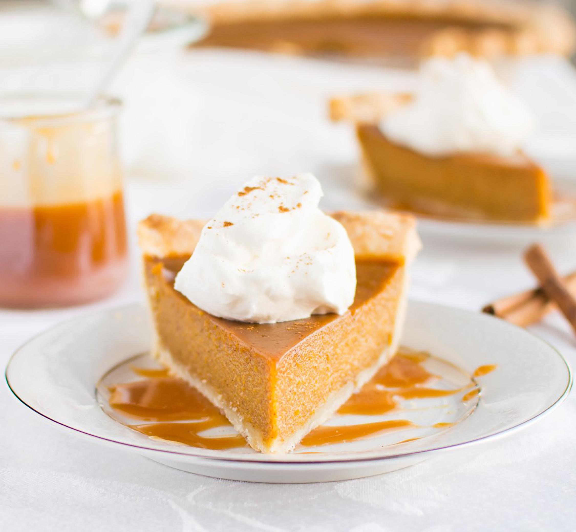 salted caramel pumpkin pie