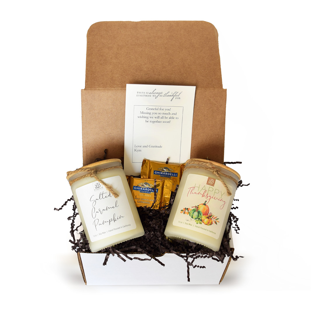 gift set with 2 candles