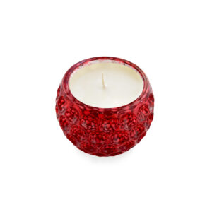 9oz Crimson Mercury Glass Candle